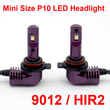 9012 HIR2 Mini boyutu P10 LED far ampul dahili Fan tüm-in-one 6 K 35 W 5200LM lamba